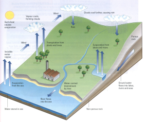 water cycle ielts diagram